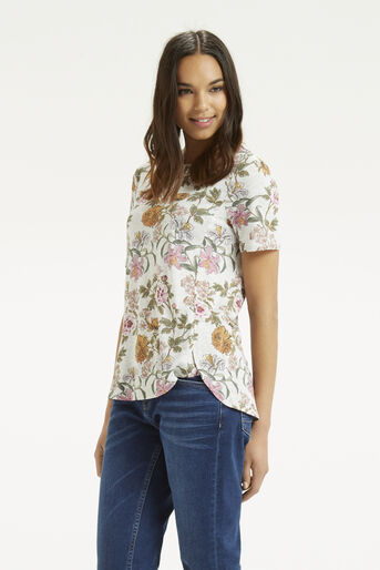 Oasis, Opium Print T-Shirt Mid Grey 1