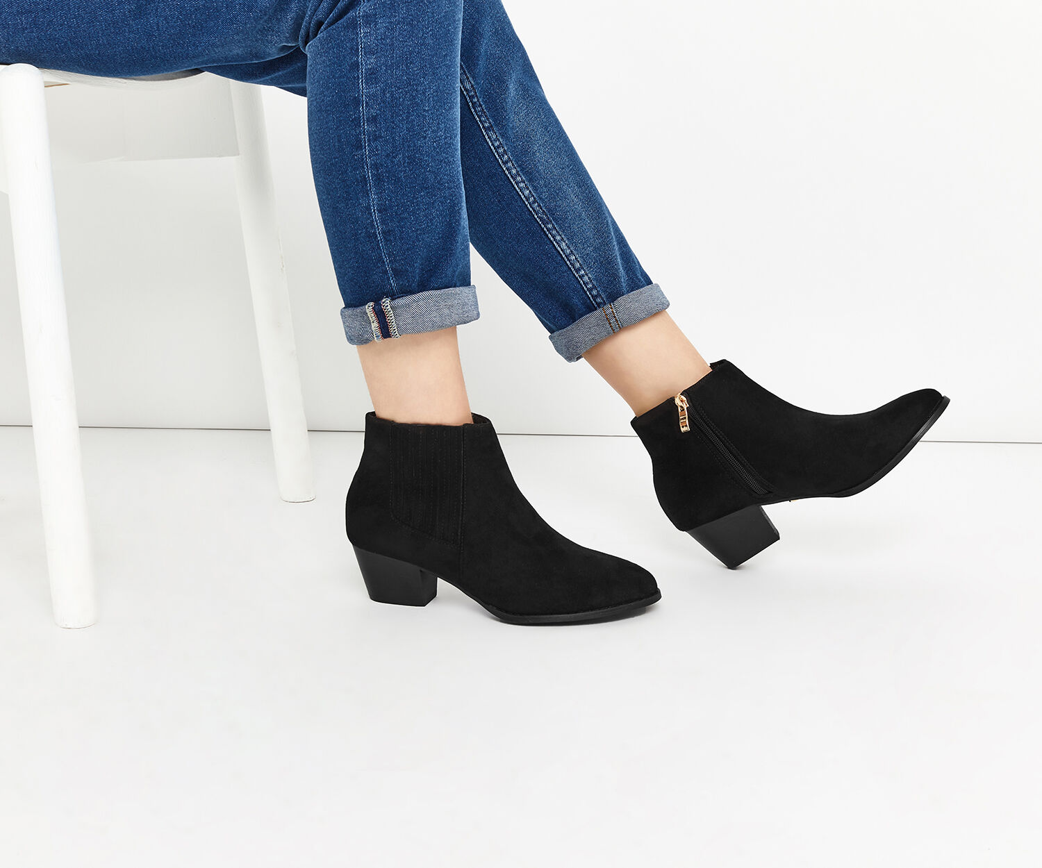Oasis, CASUAL ANKLE BOOT Black 1