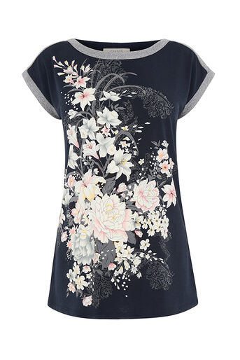Oasis, LOTUS PLACEMENT TOP Navy 0