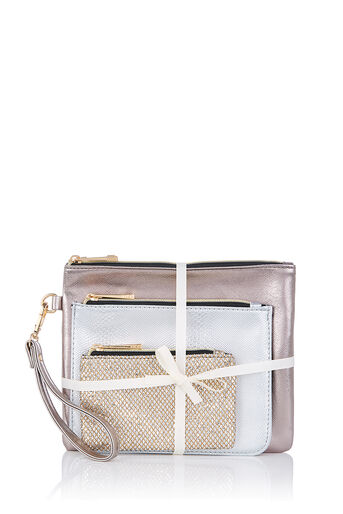 Oasis, 3 PACK POUCH Silver 0