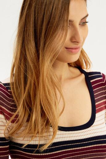 Oasis, Sparkle stripe knit top Multi 4
