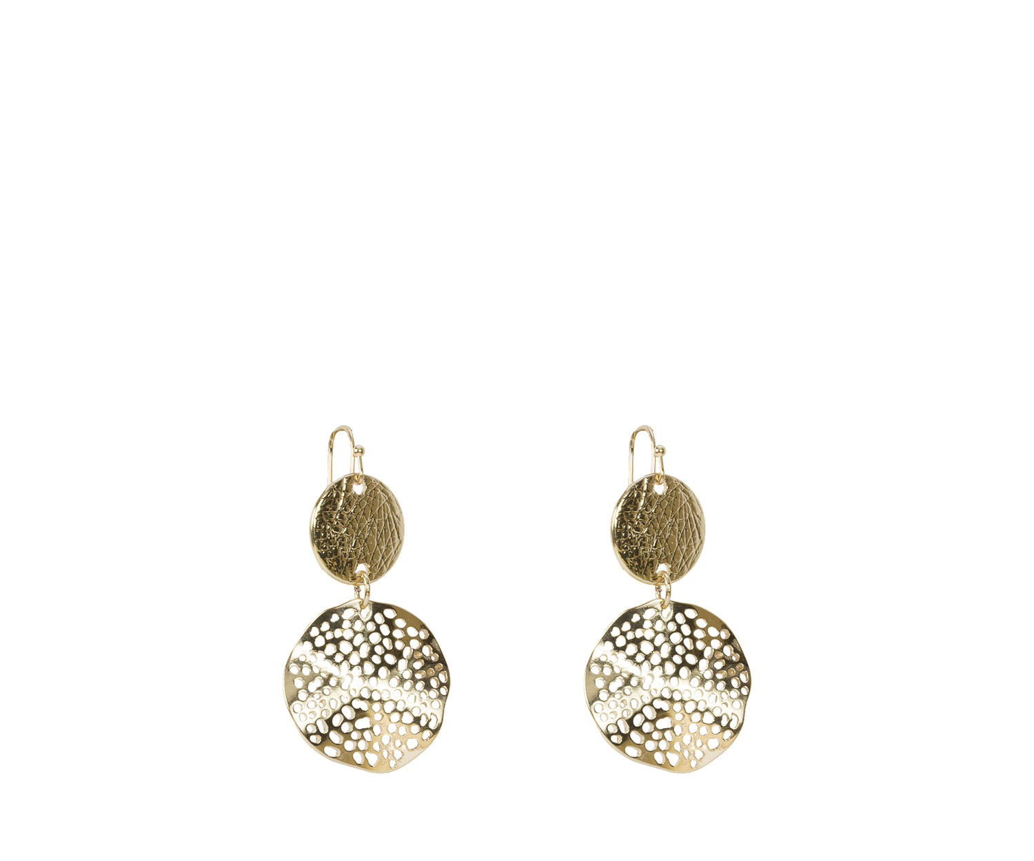 Oasis, DOUBLE DISC EARRING Gold 1