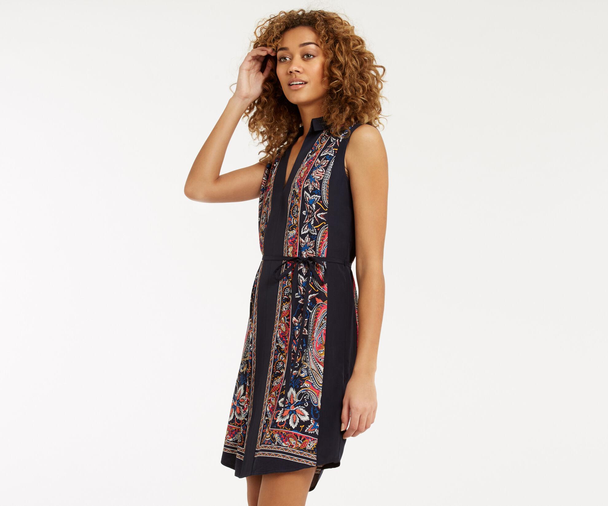 Oasis, Bombay Placement Shirt Dress Multi 1