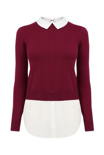 Oasis, Shirt tails Burgundy 0