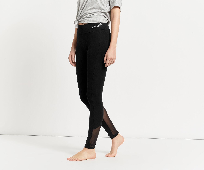 Oasis, Pineapple Mesh Detail Legging Black 1
