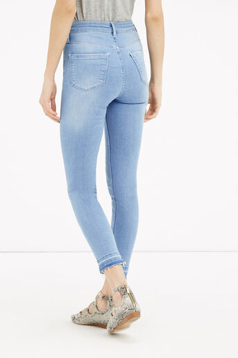 Oasis, HEM DETAIL LILY JEANS Light Wash 3