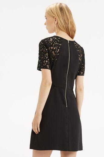 Oasis, Lace Patched Dress Black 3