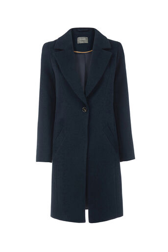 Oasis, KIMBERLY CAR COAT Navy 0