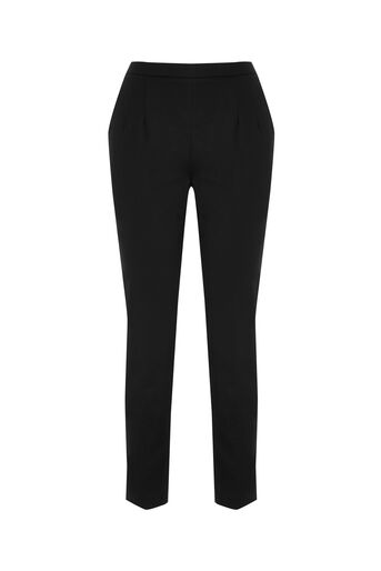 Oasis, CLASSIC COTTON TROUSERS Black 0