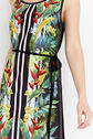 Oasis, tropical lurex trim midi Multi Black 4
