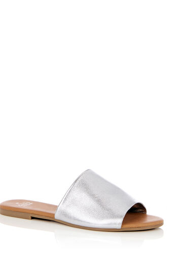 Oasis, LEATHER MULE Silver 0