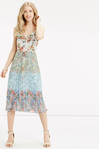 Oasis, Ombre Ditsy Pleat Midi Dress Multi 1