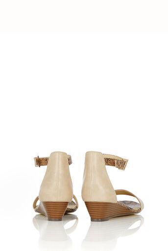 Oasis, Wedge Sandal Multi Natural 2