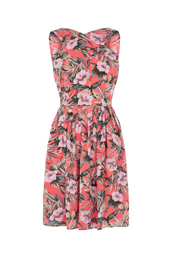 Oasis, Tropical Sun Dress Multi Orange 0