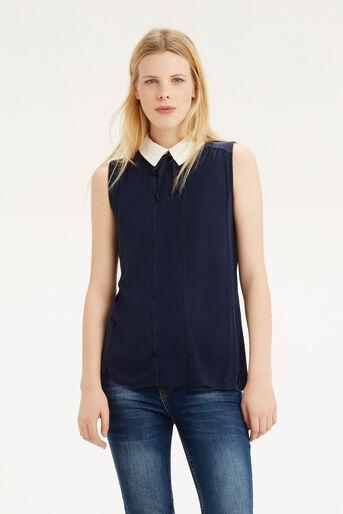 Oasis, Collar T-Shirt Navy 1