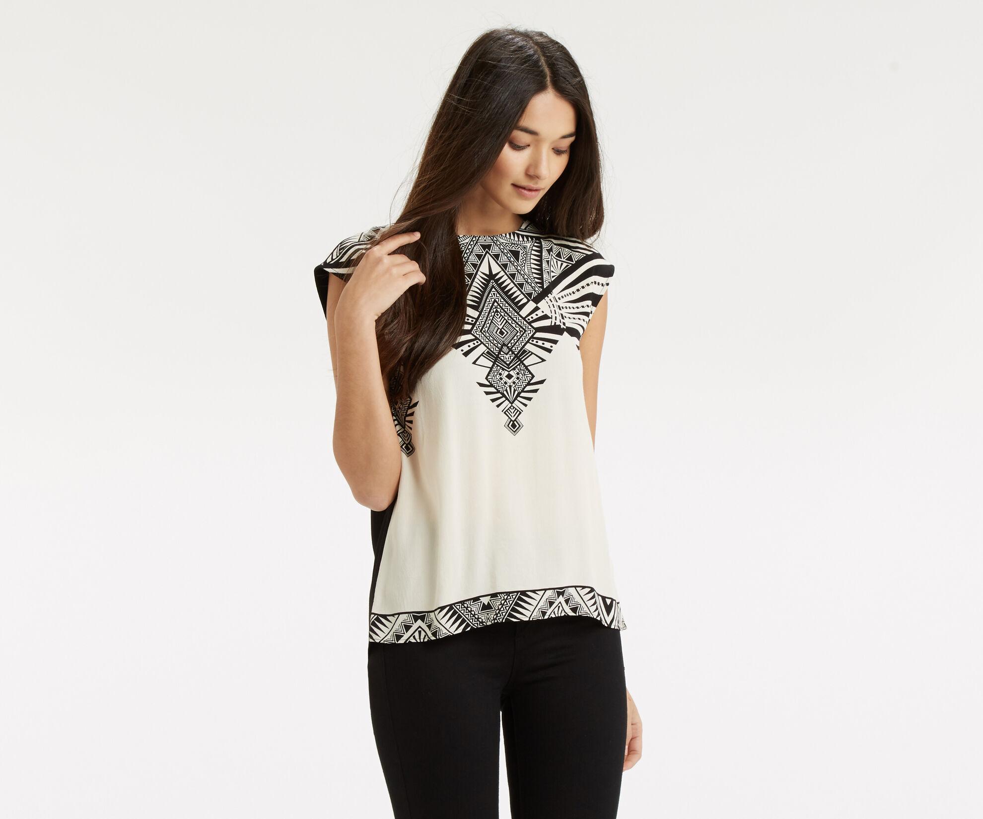 Oasis, Deco Wrap Back T-Shirt Multi Natural 1