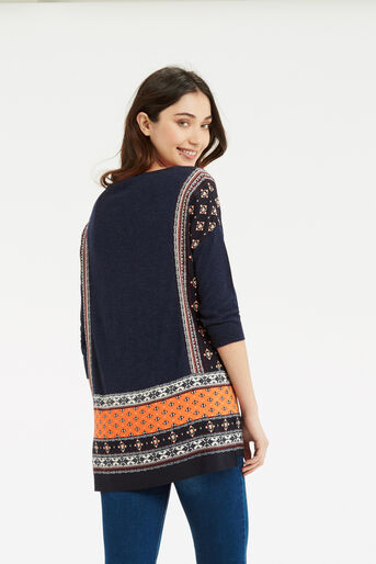Oasis, Naomi Patched Jumper Multi Blue 3