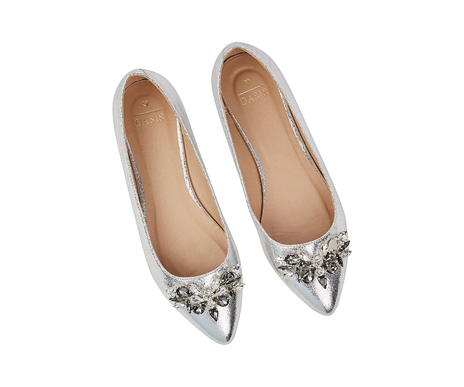 Oasis, IVY EMBELLISHED FLAT POINT Silver 1
