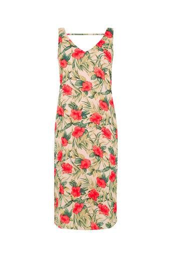 Oasis, Tropical Midi Dress Multi Natural 0
