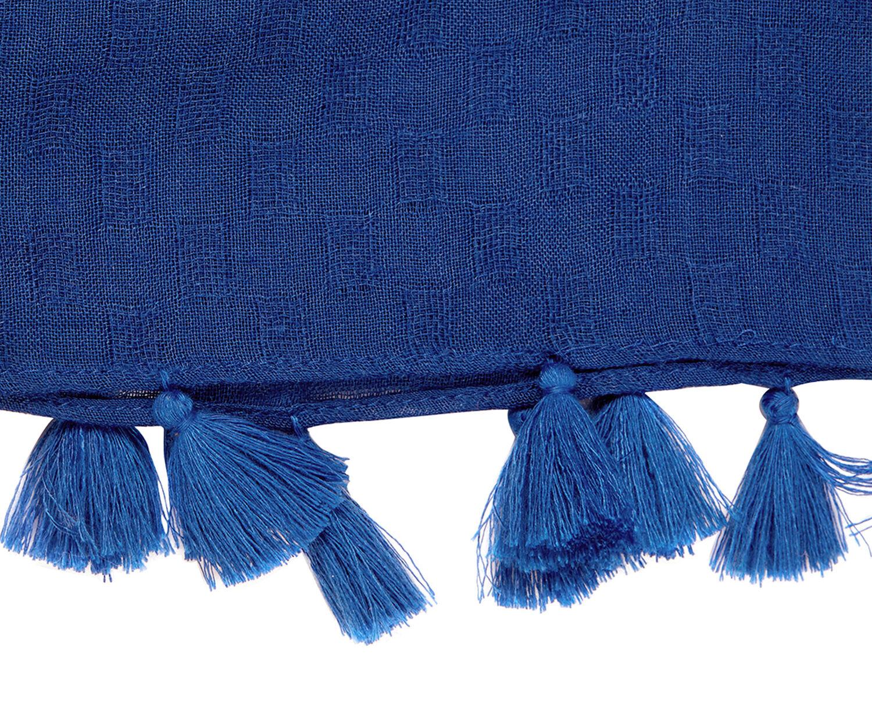 Oasis, TASSEL SCARF Cobalt Blue 1