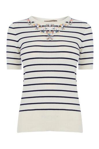 Oasis, Embellished stripe knit Multi 0