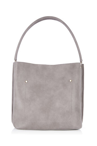 Oasis, TRIPLE COMPARTMENT HOBO Mid Grey 0