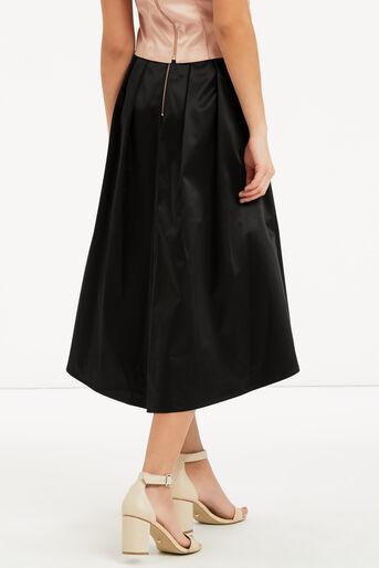Oasis, Satin Dip Hem Skirt Black 3