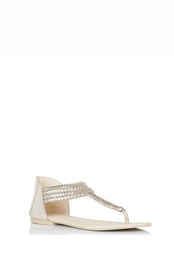 Oasis, Pisa Plait Sandal Gold 0