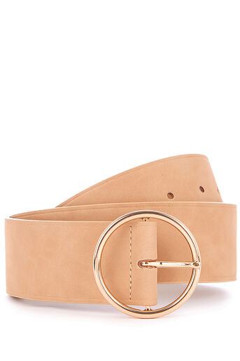 Oasis, WIDE CIRCLE BUCKLE BELT Mid Neutral 0