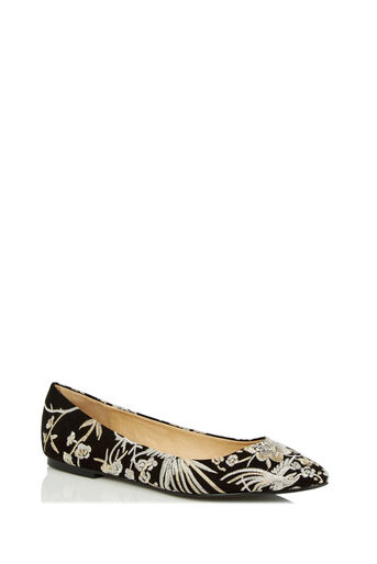 Oasis, EMBROIDERED FLAT POINT Multi Black 0