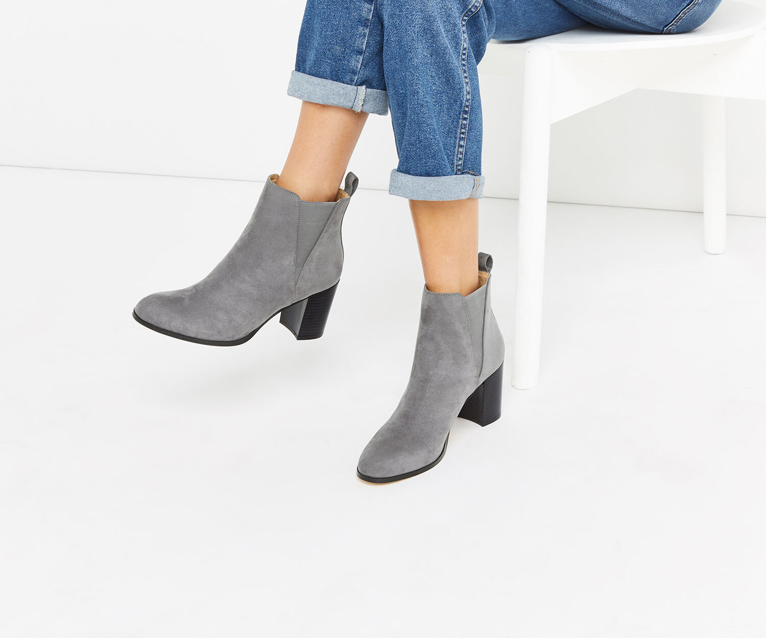Oasis, BELLA ANKLE BOOT Mid Grey 1