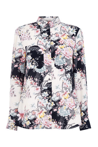 Oasis, LOTUS PRINT SHIRT Multi 0