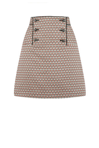 Oasis, HEART JACQUARD SKIRT Multi 0