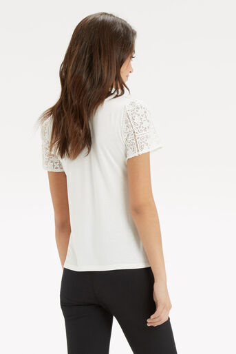 Oasis, Lace Pom Pom Top Off White 3