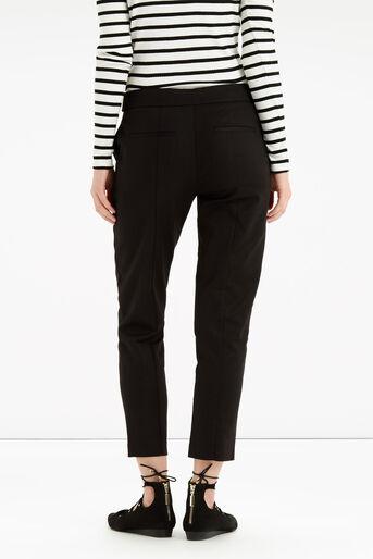 Oasis, Cotton Trouser - Shorter Lengt Black 3