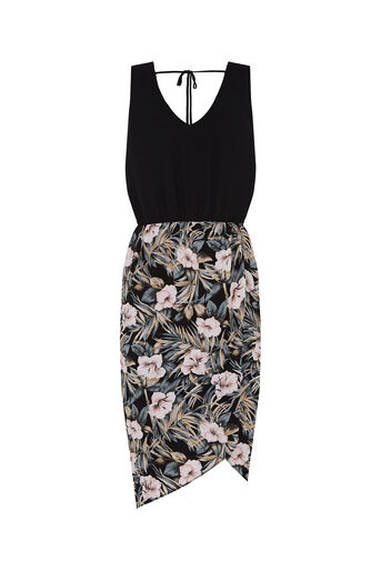 Oasis, Tropical Lace Back 2 For Dress Multi Black 0