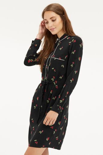 Oasis, CHERRY PIPED SHIRT DRESS Multi 1