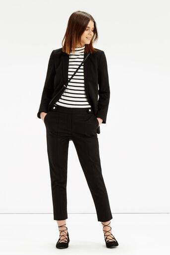 Oasis, Cotton Trouser - Shorter Lengt Black 2