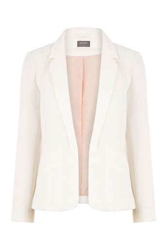 Oasis, TAILORED EVENT BLAZER Off White 0