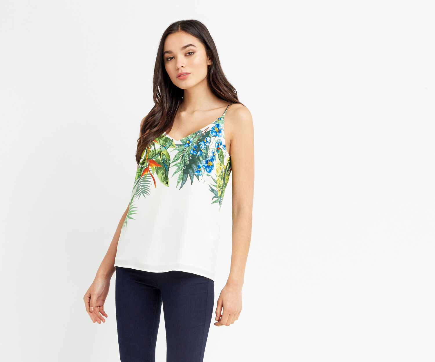 Oasis, TROPICAL PLACEMENT CAMI Multi Natural 1