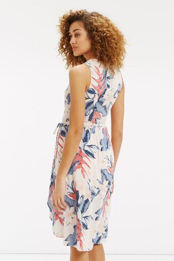 Oasis, Tropical Fancy Smocked Dress Multi Pink 3