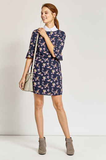 Oasis, LOTUS BIRD DRESS Multi Blue 2