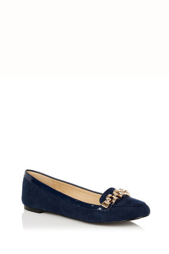Oasis, Lauren Chain Loafer Navy 0