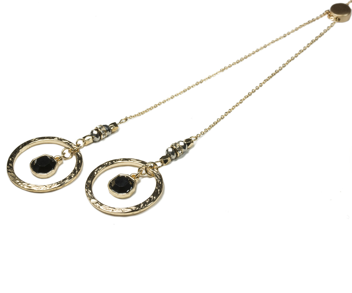 Oasis, RING DROP NECKLACE Gold 1
