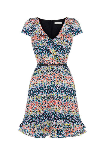 Oasis, Ditsy Frill Dress Multi 0