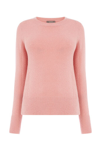 Oasis, RIB SIDE PERFECT CREW Pale Pink 0