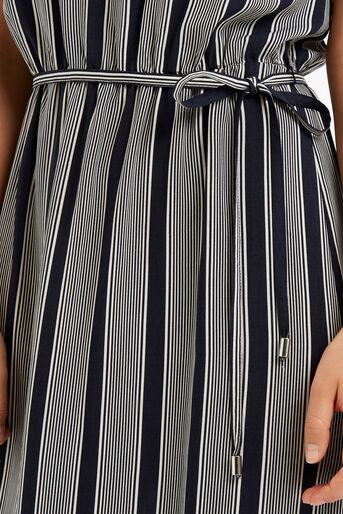 Oasis, Viscose Stripe Ruffle Dress Multi 4
