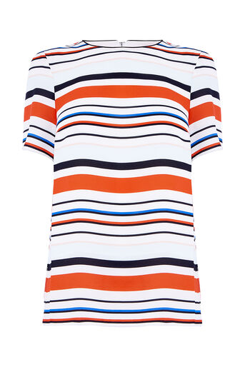 Oasis, BAR CODE STRIPE TEE Multi 0