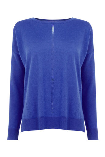 Oasis, Weekend Knit Top Rich Blue 0