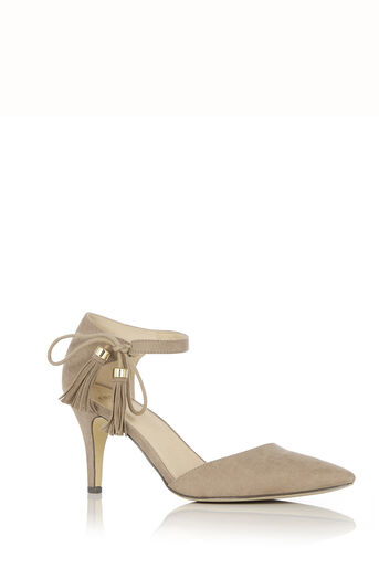 Oasis, Tilly Tassel Heel Mid Neutral 0